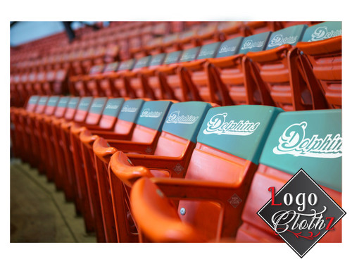 Stadium Seating Chair Back band Covers Logo or social distancing messages
