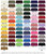 74 fabric colors including silver, charcoal, neon pink, neon orange and neon green