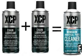XCP Premium  Motorcycle Motorbike Chain Lube & Chain Cleaner Pack