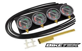 Motorcycle Carb Carburettor Vacuum Balancer Gauge For 2,3,4 Cylinder Gauges Kit
