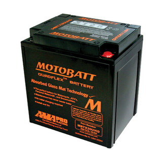 Motobatt MBTX30U AGM Motorcycle Battery Front