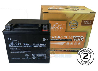 Leoch YTX5L-BS New Gel Battery 2 Year Warranty YTX5LBS