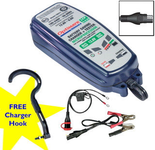 Optimate Lithium 12V 0.8A Battery Charger For LiFePO4 Motorcycle Batteries