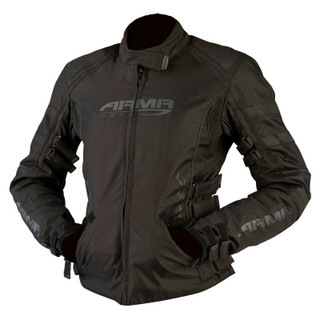 ARMR Kami Black Ladies Textile Motorcycle Jacket Waterproof