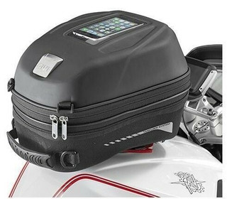 Givi ST603B Tanklock Motorcycle Tank Bag With Phone Holder 15 ltr .Quick Release