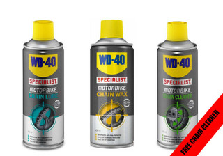 WD-40 Motorcycle Motorbike Chain Maintenance Kit Lube, Wax & Cleaner Ideal Gift