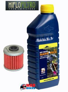 Honda CRF 450 ,CRF250, & 150 Putoline Nano Tech + 10W40 & Hiflo Oil Filter HF116