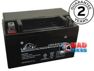 Leoch YTZ12-S Motorcycle Battery image