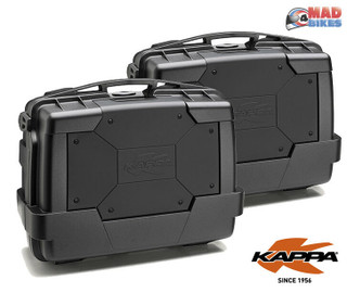 Kappa KGR33N Black Motorcycle Panniers Luggage Cases (Givi Monokey Fitment)  x 2