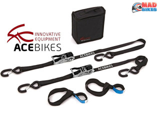 ACEBIKES  Ratchet Straps, Premium Quality Motorcycle / Motorbike Tie Down Straps