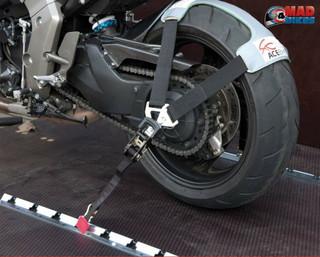 ACEBIKES TyreFix & Flexi Rail Motorcycle Transport Tie Down Ratchet Strap System
