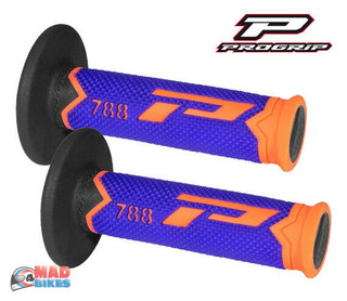 Pro Grip Progrip 788 Grips Orange Blue Black Motocross Triple Density Grips