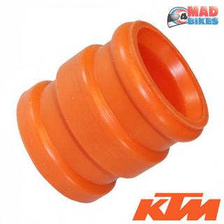 KTM SX, EXC,  Exhaust Silencer, Tailpipe Rubber Seal, Silicon Gasket Orange