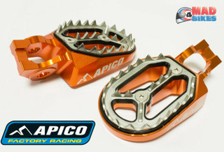 New Apico Pro Bite Wide Footrests Foot Pegs KTM SX 85 125 150 SXF 250 350 450