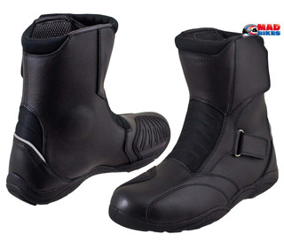 Short Motorcycle Boots in Leather Mid Height Cruiser Touring Commuter Motorbike