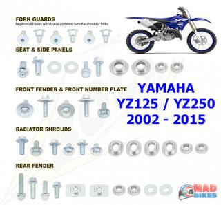 BOLT Hardware Full Plastic Fastener Kit OEM Style Yamaha YZ 125 250 2002 to 2015