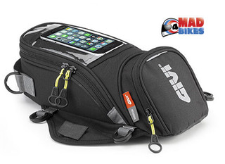 Givi EA106B Easy Mount Magnetic Tank Bag, 6 Litre, With Smart Phone Holder