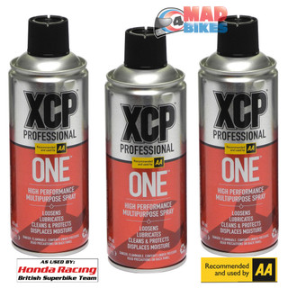 XCP ONE - High Performance Multi Purpose Spray 400ml Motorcycle, Car, Cycle  x 3