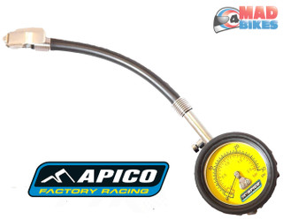 Apico Low Pressure Tyre Gauge 0 to 30 PSI, Motocross, Enduro, Trials, Motorcycle