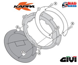 BF18 Givi Kappa Tankbag TankLock Fitting Ring Flange Suzuki DL1000 V-Strom 14-18