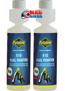 Putoline E10 Motorcycle Motorbike Scooter Fuel Additive Ethanol Protection x 2