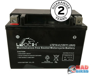 Leoch YTZ14-S Motorcycle Battery