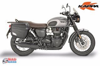 Givi PL6410 Rack & Pair of K22N Panniers for Triumph Bonneville T120 2016-2018