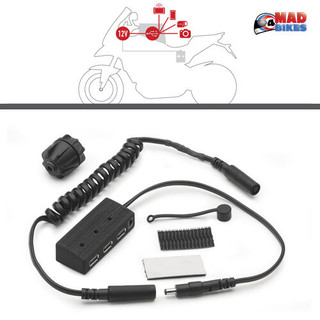 Givi/Kappa S111 3 X USB Power Hub Kit, Electrical Feed to Motorcycle tank bags