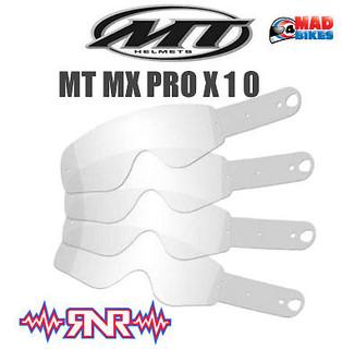 Rip N Roll Enduro MX Goggle Tear Offs For MT Pro III Goggles. x 10
