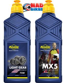 Putoline Motocross, MX Light Gear Box Oil & MX5 2 Stroke Oil KTM, YZ, RM, KX, CR