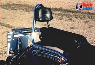 Renntec Luggage Rack & Sissy Bar / Backrest for Yamaha XVS650 Dragstar - Chrome