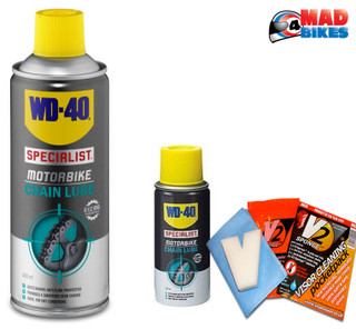 WD40 SP Motorbike Motorcycle Chain Lube 400ml Plus Handy 100ml Travel can