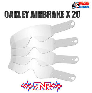 Rip N Roll Enduro MX Motocross Goggle Tear Offs for Oakley Airbrake 20 Pack