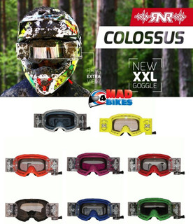 Motocross Goggles Rip N Roll Colossus XXL 48mm MX With Roll Off System (RNR)