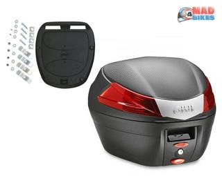Givi B34N Monolock Motorcycle Top Box luggage Case 34L Inc Universal Fitting Kit