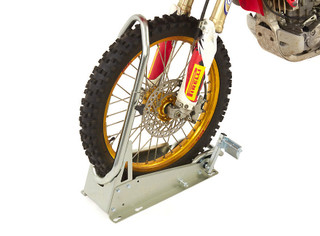 AceBikes Motorcycle Motocross, MX Enduro Bike Front Wheel Clamping Chock Stand