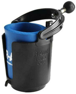 "RAM Level Cup. Motorcycle Cup Holder with 1"" Ball. Self Levelling Drink Holder"