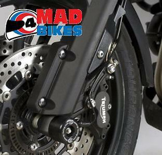 R&G FORK CRASH PROTECTORS FOR THE TRIUMPH TIGER EXPLORER 1200 NEW 2012 TO 2013