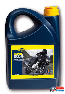 10W-40 4 Stroke Motorcycle Motorbike Engine Oil 10W40 4 Litre 4L Putoline DX4
