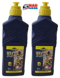 PUTOLINE MX9 ESTER TECH 100% SYNTHETIC 2 STROKE OIL, KTM SX65 SX85 SX125 SX150