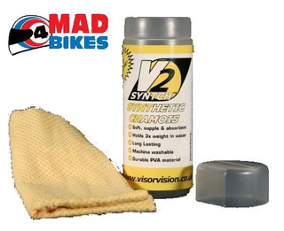 V2 Highly Absorbant Synthetic Chamois Wash Leather, Motorcycle, Scooter, Car etc