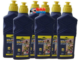PUTOLINE MX9 ESTER TECH 100% SYNTHETIC OFF ROAD 2 STROKE OIL 6 X 1Ltr BOTTLES