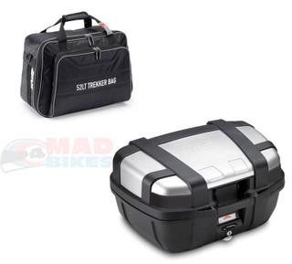 GIVI TRK52N Trekker Motorcycle Motorbike Luggage Top Box 52L & T490 Internal Bag