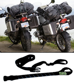"ADJUSTABLE MOTORCYCLE ROK STRAPS, 18"" to 60"" LUGGAGE BUNGEE TWIN PACK"