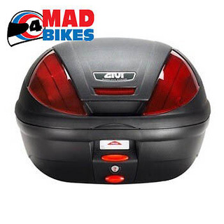 GIVI E370 MONOLOCK  MOTORCYCLE SCOOTER TOP BOX LUGGAGE CASE WITH UNIVERSAL PLATE