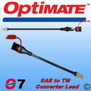 Optimate SAE77 (O7) Converter Lead For New Optimate / Accumate Battery Chargers