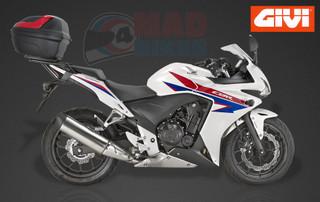 HONDA CBR500R & CB500F GIVI LUGGAGE RACK AND 47L TOP BOX 2013,2014,2015 ONLY