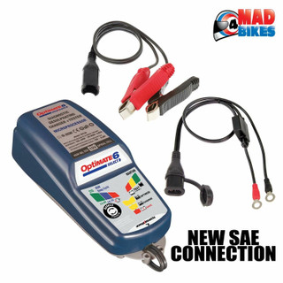 OptiMate 6 Ampmatic Battery Charger Tester & Maintainer with Free O-123 Monitor
