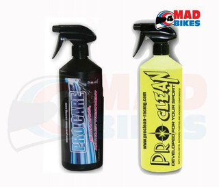 PRO CARE MOTORCYCLE MOTORBIKE MTB BMX CYCLE CLEAN & ANTI RUST PROTECTION PACK