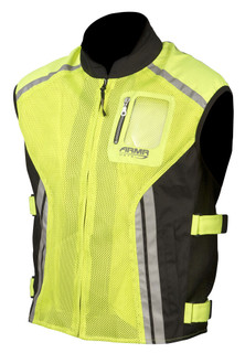 ARMR MOTO HI VIZ REFLECTIVE MOTORCYCLE OVER VEST SIZES MED TO 10XL